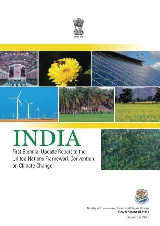 Image of cover of INDIA - First Biennial Update Report to the United Nations Framework Convention on Climate Change