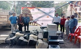 Image of Demonstration & collection of Vermicompost & E-Waste by NEHU, Shillong