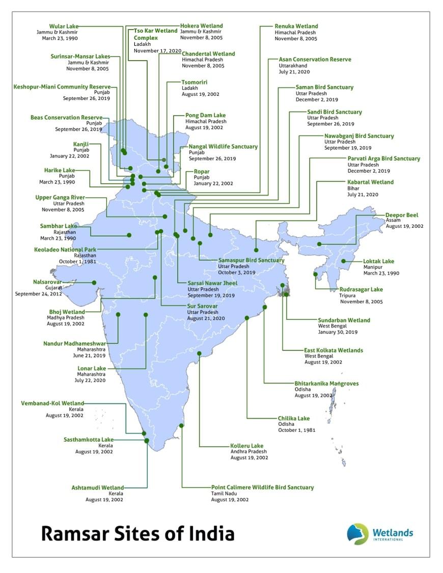 Image of Ramsar Sites in India