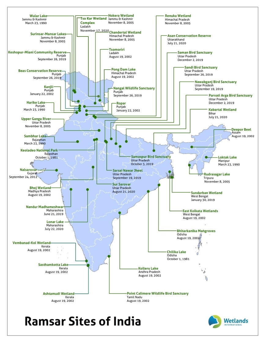 Image of Ramsar Sites in India